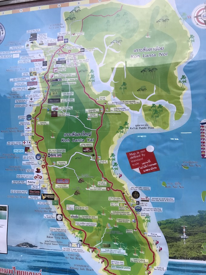 这是兰塔岛的地图