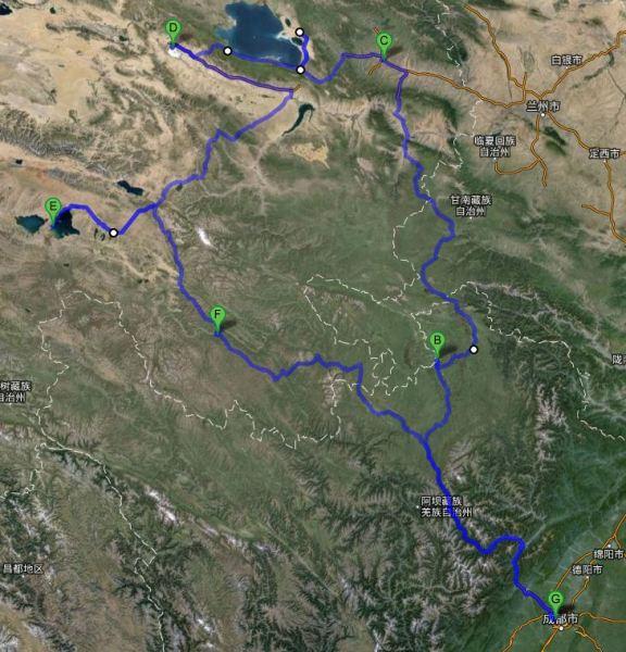 黄河风景游览区地图
