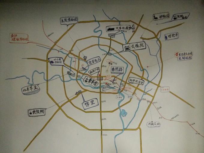旅店的手绘地图