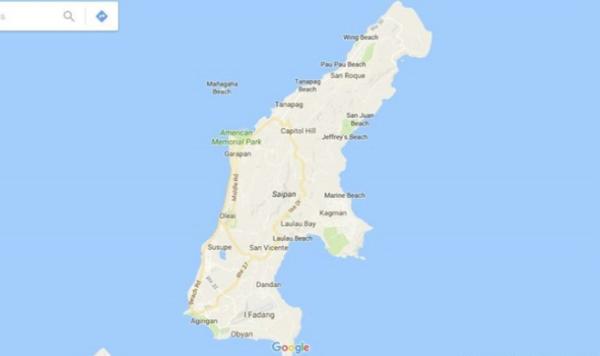没有世界地图塞班岛