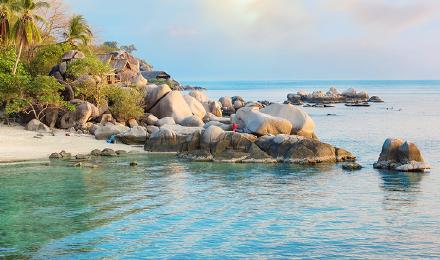 泰国旅游 普吉 皇帝岛 蜜月岛 一日游(私人海滩 双体帆船游艇 中文