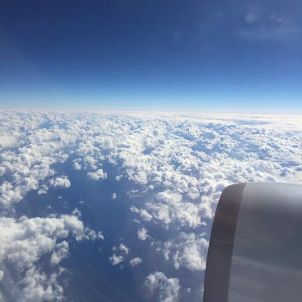 飞机于北京时间9点54分起飞,由于武汉机场距离市区较远,我们5点半就
