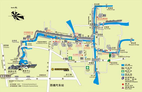 唐家古镇手绘地图