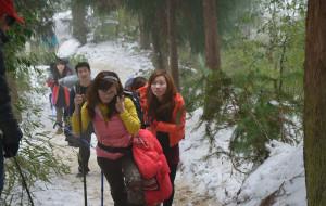 【都江堰图片】踩雪拿冰 户外徒步赵公山与美女之旅