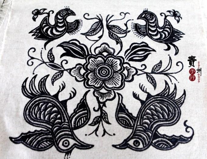 蜡染图案 花纹 蝴蝶