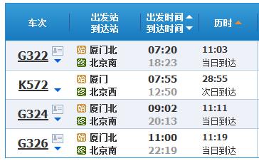 由于从北京飞厦门的机票比较贵,所以选择从石家庄坐飞机