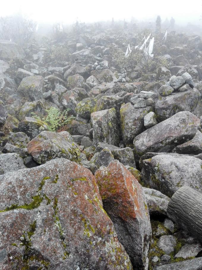 石头拼风景油画