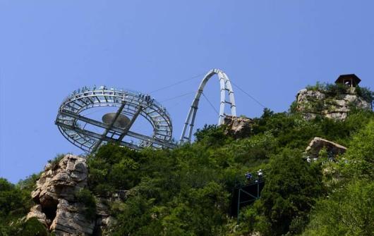 平谷石林峡360ufo玻璃观景台跟团纯玩巴士一日游