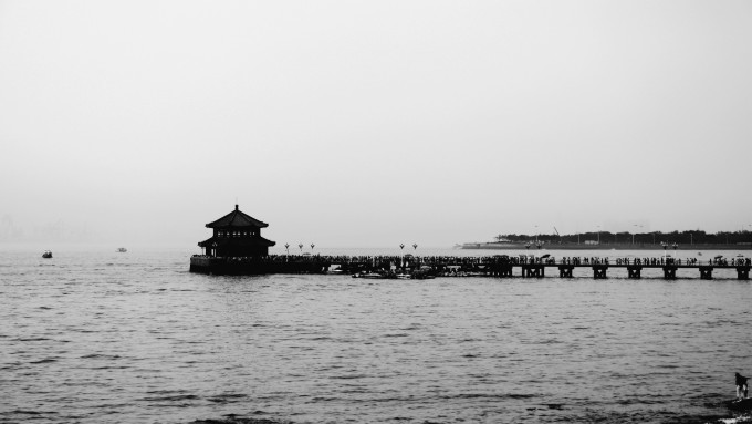 青岛栈桥简笔画步骤