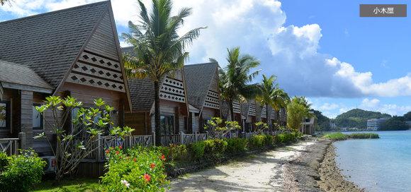 小木屋,帕劳天堂岛度假村island paradise resort一晚