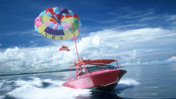 长滩岛拖曳伞体验