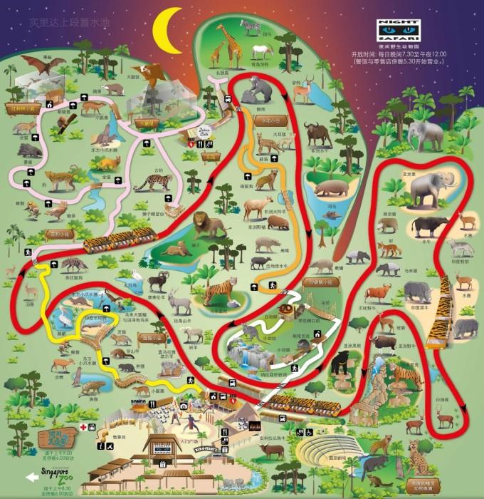 夜间动物园地图