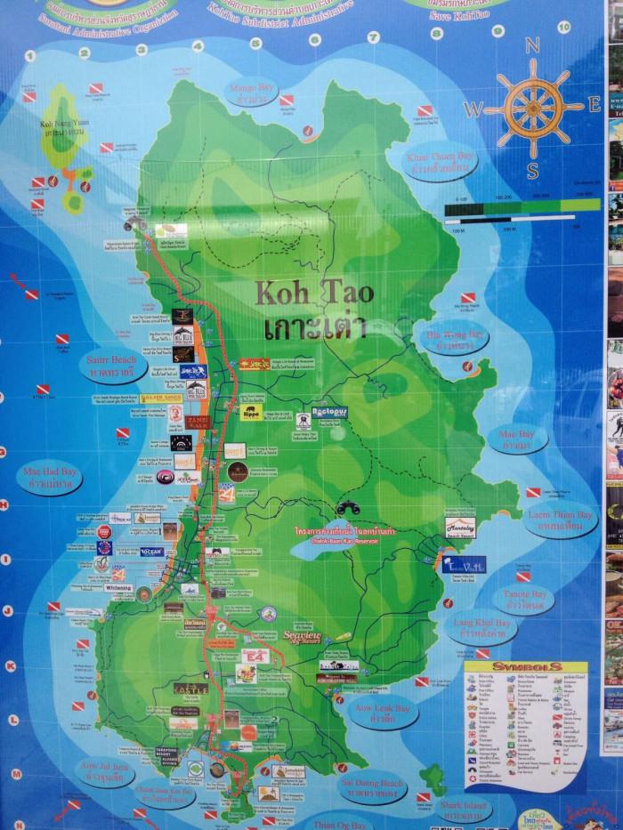 泰国涛岛是怎样的情况 有地图吗?